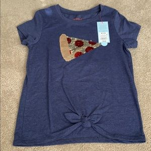 Cat and jack pizza t-shirt